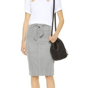 Club Monaco Indy's Striped Pencil Skirt